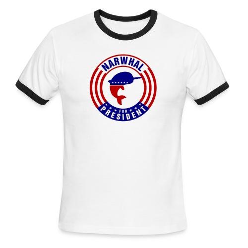 Narwhal 4 President 2 - Men's Ringer T-Shirt