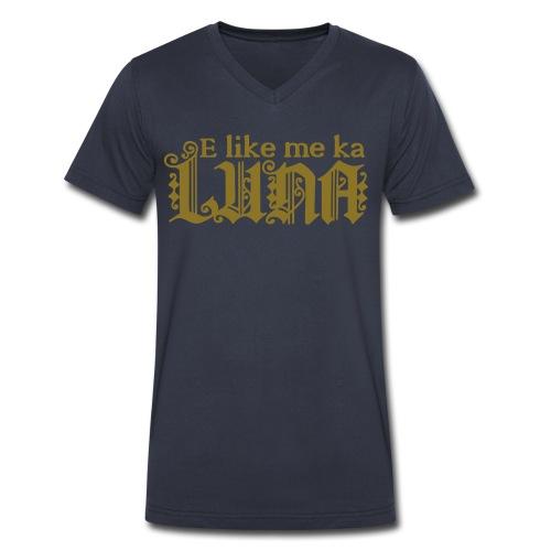 (Hawaiian) Like A Boss - Men's V-Neck T-Shirt by Canvas