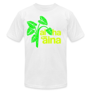 Aloha Aina - Neon - Men's T-Shirt by American Apparel