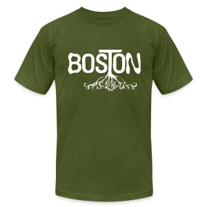 Boston Rooted - Men's T-Shirt by American Apparel