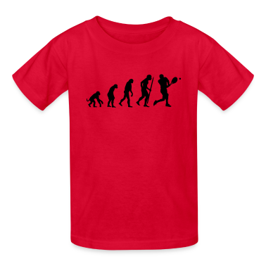 evolution of tennis Kids' Shirts