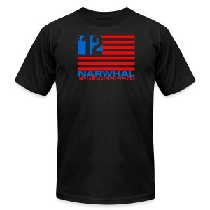Narwhal Flag - Men's T-Shirt by American Apparel