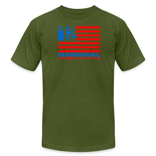 Narwhal Flag - Men's  Jersey T-Shirt