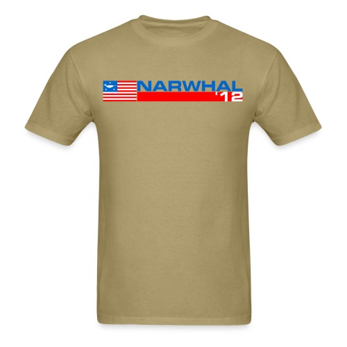 Narwhal Banner - Men's T-Shirt