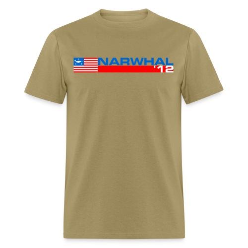 Narwhal Banner - Men's T-Shirt