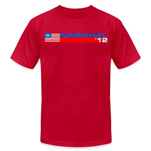 Narwhal Banner - Men's  Jersey T-Shirt