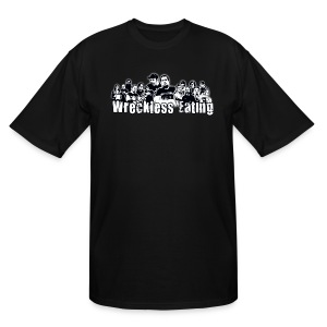 Wreckless Eating Cast B&W Tall Shirt - Men's Tall T-Shirt