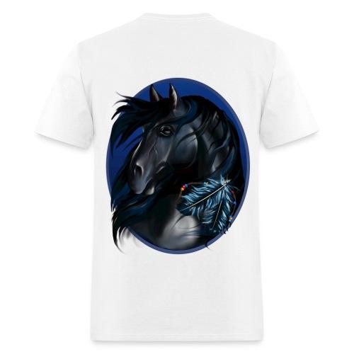 horse on back - Men's T-Shirt