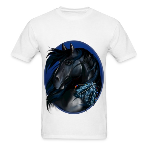 horse on front - Men's T-Shirt