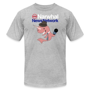 Narwhal News Network - Men's T-Shirt by American Apparel