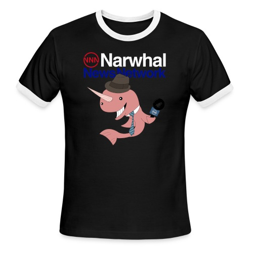 Narwhal News Network - Men's Ringer T-Shirt
