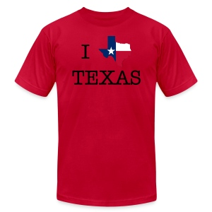 I Texas Texas - Men's T-Shirt by American Apparel