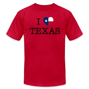 I Heart Texas - Men's T-Shirt by American Apparel