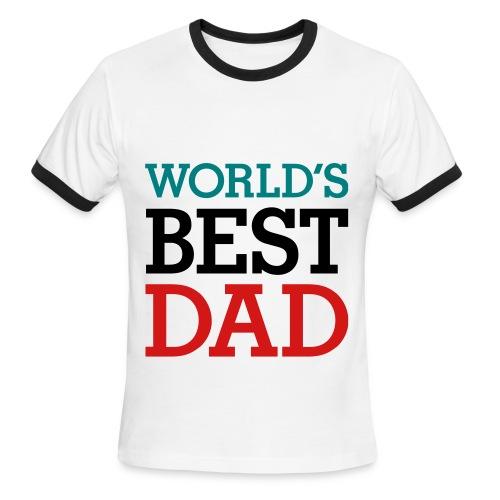 Worlds best dads Mens shirt - Men's Ringer T-Shirt