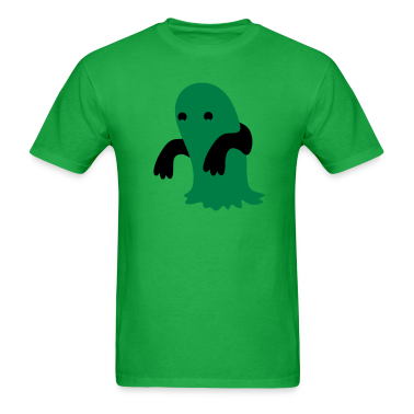 green blob kawaii cutie monster T-Shirts