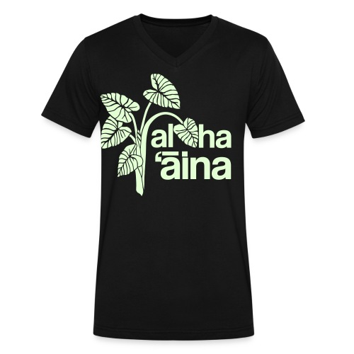 (Hawaiian) Aloha Aina - Men's V-Neck T-Shirt by Canvas