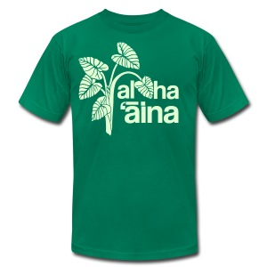 (Hawaiian) Aloha Aina - Men's T-Shirt by American Apparel