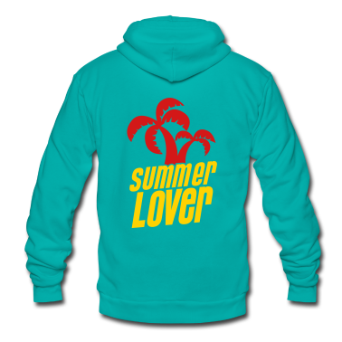 summer lover with palm tree Zip Hoodies/Jackets
