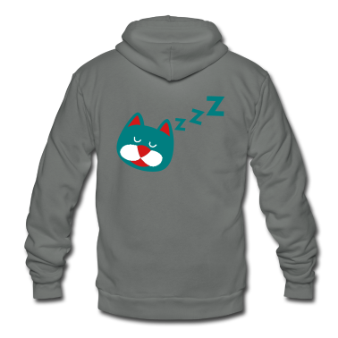 sleeping cat with zzz's Zip Hoodies/Jackets