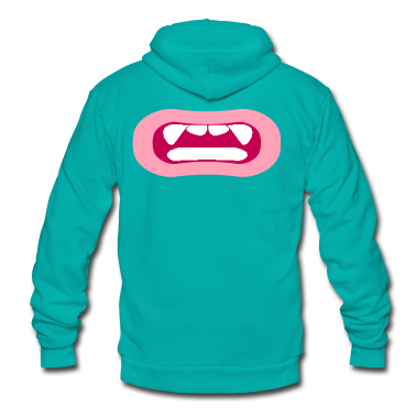 open mouth vamp freak Zip Hoodies/Jackets