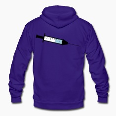 large needle syringe Zip Hoodies/Jackets