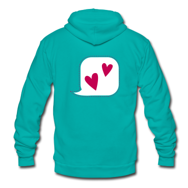 i talk love hearts speak Zip Hoodies/Jackets