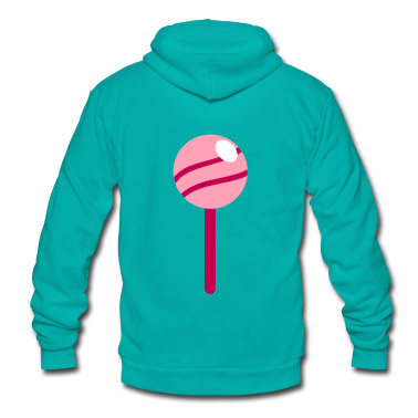 pink lollipop with a shine Zip Hoodies/Jackets