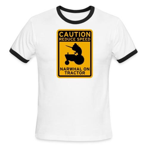 Narwhal Tractor - Men's Ringer T-Shirt