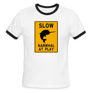 Narwhal at play - Men's Ringer T-Shirt