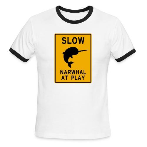 Narwhal at play - Men's Ringer T-Shirt