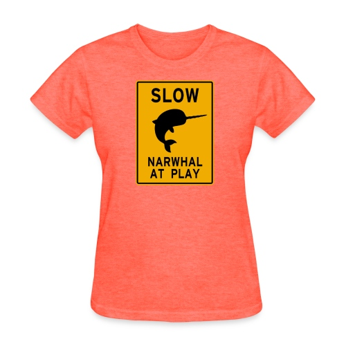 Narwhal at play - Women's T-Shirt