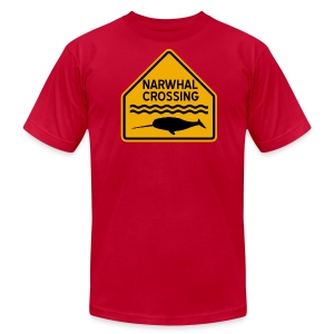Narwhal Crossing - Men's T-Shirt by American Apparel