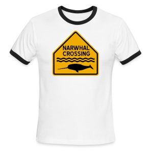 Narwhal Crossing - Men's Ringer T-Shirt