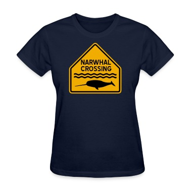 Narwhal Crossing Women's T-Shirts