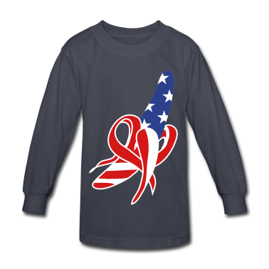 A banana-American-flag design Kids' Shirts