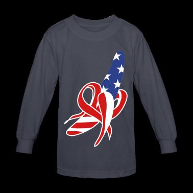 A banana-American-flag design Kids' Shirts