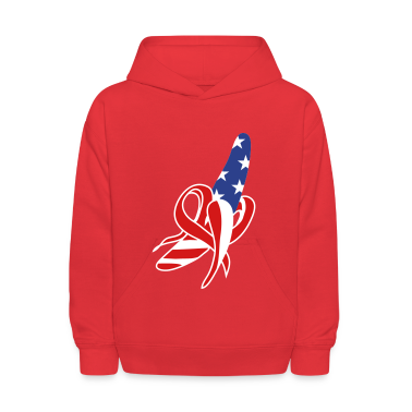 A banana-American-flag design Sweatshirts