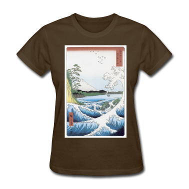 Scene of Wave and Mountain T-Shirt