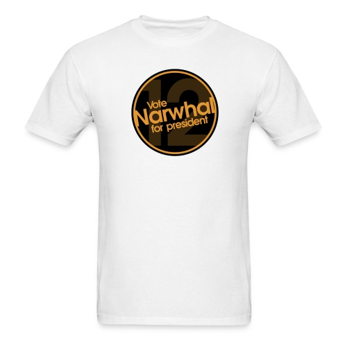 Vote Narwhal Round - Men's T-Shirt