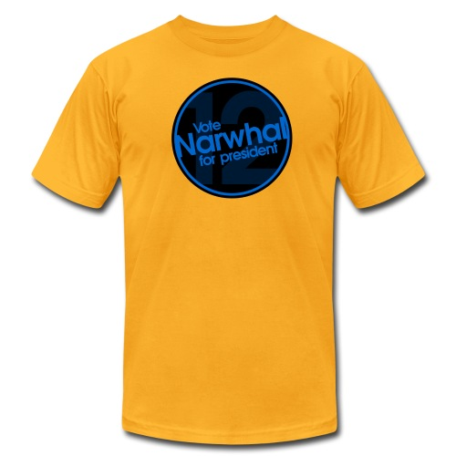 Vote Narwhal Round - Men's Fine Jersey T-Shirt