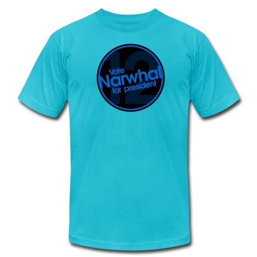 Vote Narwhal Round - Men's Fine Jersey T-Shirt