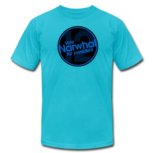 Vote Narwhal Round - Men's  Jersey T-Shirt