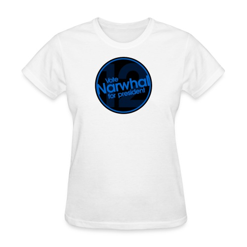 Vote Narwhal Round - Women's T-Shirt