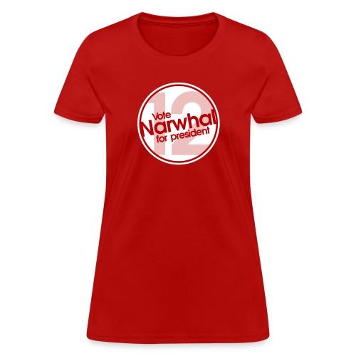 Vote Narwhal Round - Women's T-Shirt