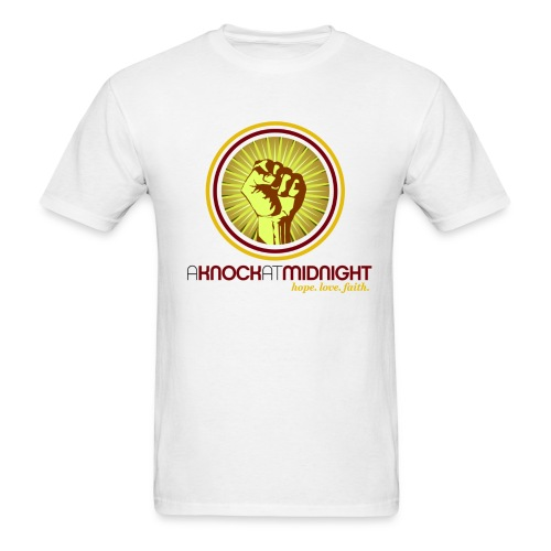 The AKAM Power Knock Tee (white) - Men's T-Shirt