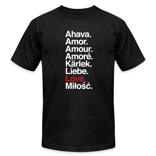Love. Language. - Men's  Jersey T-Shirt