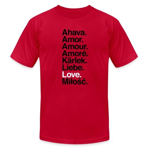 Love. Language. - Men's Fine Jersey T-Shirt