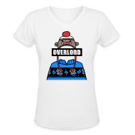 Women's T-Shirts ~ Women's V-Neck T-Shirt ~ Misha Collins [Overlord] (DESIGN BY MICHELLE)