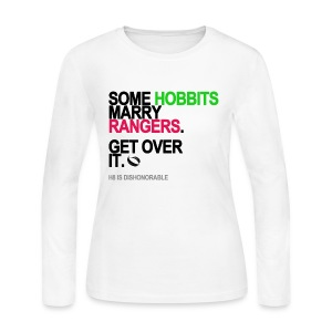 Some Hobbits Marry Rangers Long Sleeve White - Women's Long Sleeve Jersey T-Shirt
