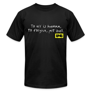 To Err is Human Men's Tee (Black) - Men's T-Shirt by American Apparel